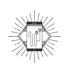 Headphones icon music and sound design vector