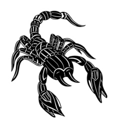 Abstract scorpion vector