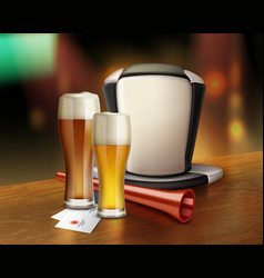 acessories of fan with beer vector image