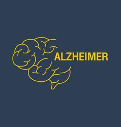 Alzheimer logo icon design vector