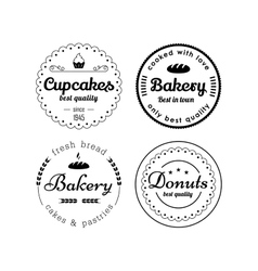 Bakery and cupcakes labels vector image vector image