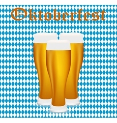 Beer at oktoberfest in the bavarian background vector