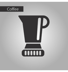 Black and white style coffee maker vector