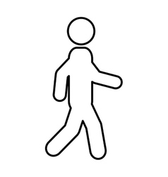 Businessman character walking isolated icon vector
