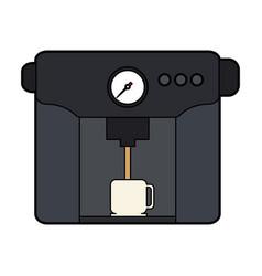 Colorful silhouette coffee espresso machine with vector
