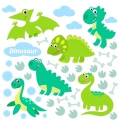 Dinosaur set vector