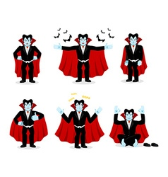 Dracula set of movements vampire collection of vector