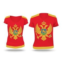 Flag shirt design of Montenegro vector image vector image