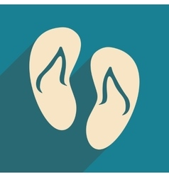 Flat with shadow icon and mobile applacation beach vector
