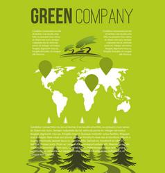 green company brochure template vector image