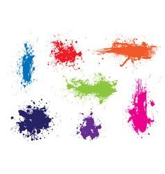 ink splat grunge vector image vector image
