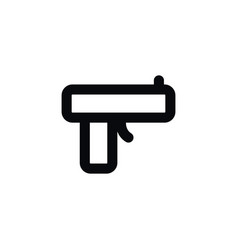 isolated pistol icon handgun element can vector image vector image