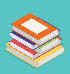 Isometric book icon in flat design style vector