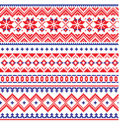lapland seamless winter pattern sami vector image