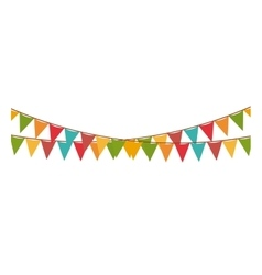 Multicolored pennant of festival design vector image