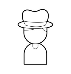 musician with hat character jazz music festival vector image