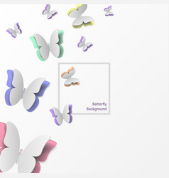 Paper butterflies flying vector