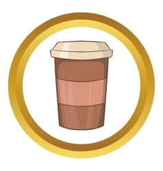 Paper cup of coffee icon vector