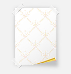 Poster with invisible pattern on the wall blank vector