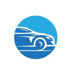sporty car vector image