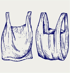 Various plastic bags vector image