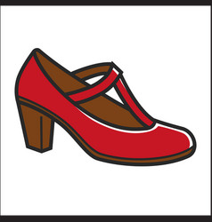 woman shoe on heel in red color isolated on white vector image