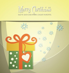 With christmas and winter feeling vector