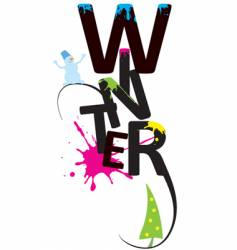 winter design background vector image