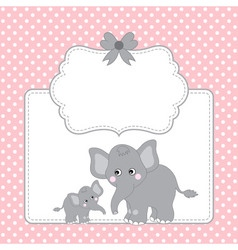 Elephant Card vector image