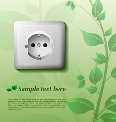 Eco background with power outlet vector