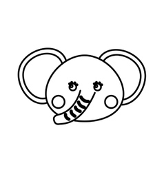 Cute elephant animal icon vector