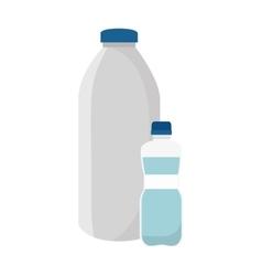 Milk bottle product icon vector