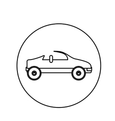 Silhouette circular shape with convertible vector