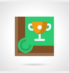 Cue sport championship flat square icon vector
