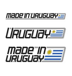 made in uruguay vector image