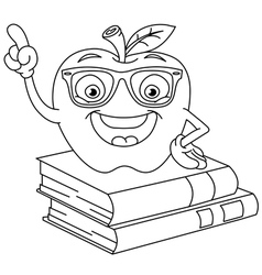 Outlined smart apple vector