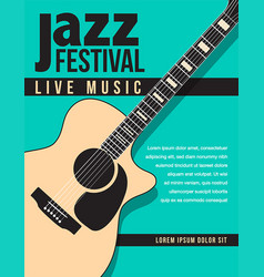 Jazz festival music background vector