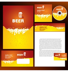 Creative corporate identity beer splash liquid vector