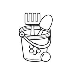 childrens toy bucket vector image