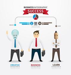 Concept of successful businessman cartoon Infograp vector image