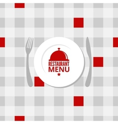 restaurant menu design background vector image