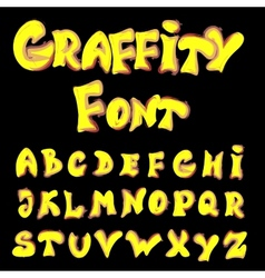 English alphabet in graffiti style vector