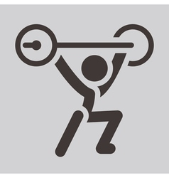Weightlifting icon vector
