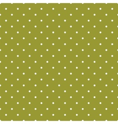 Green tile background with polka dots vector