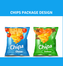Chips pack design vector