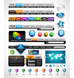 web premium collection vector image
