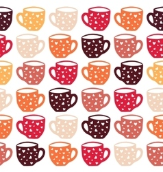 Cups seamless pattern vector