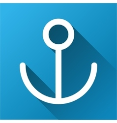 Anchor gradient square icon vector