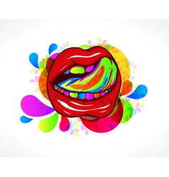 Abstract colorful mouth vector