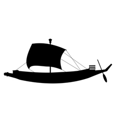 ancient sail boat vector image